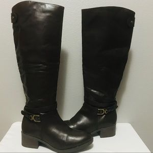 Shoes - Brown faux Leather Boots